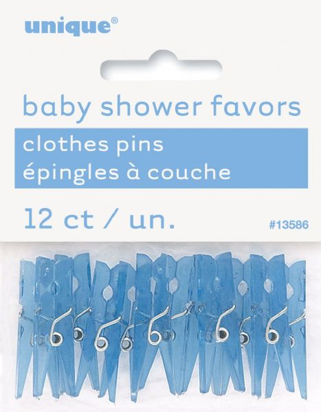 Baby blue Clothespin Favours (12)